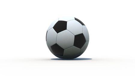futbol soccer: Soccer Ball Football 3D render with shadow