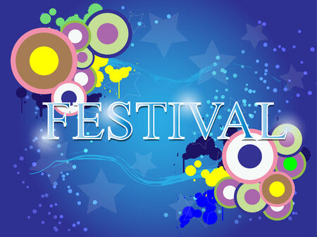 festival celebration abstract background Vector