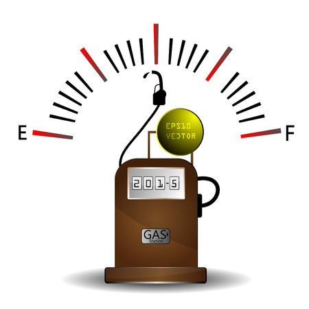 Gas station and Fuel Gauge EPS 10 Vector