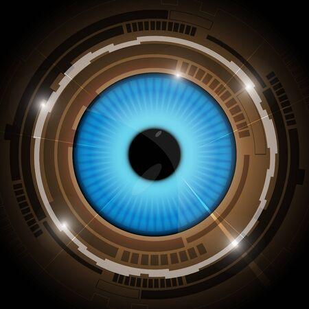 ojo azul: azul de fondo de ojo Vectores
