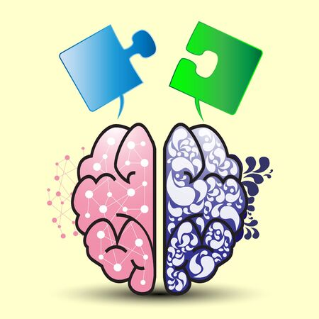 merge together: brain left and right