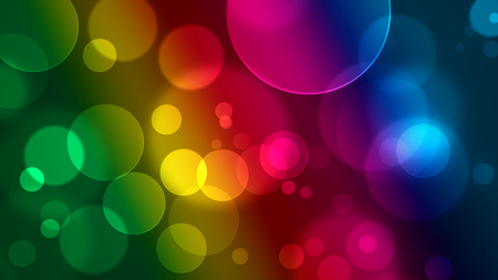 colorful bubbles background in rainbow colors
