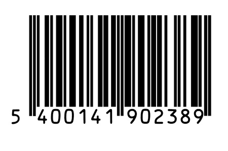 barcode scanning: Macro photo of barcode isolated on white Stock Photo