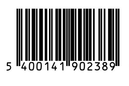 Photo de la macro de codes à barres isolées sur fond blanc Banque d'images
