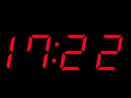 digital clock, red, alarmclock Stock Photo - 8218357