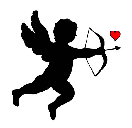 Silhouette of Cupid Stock Vector - 8495638