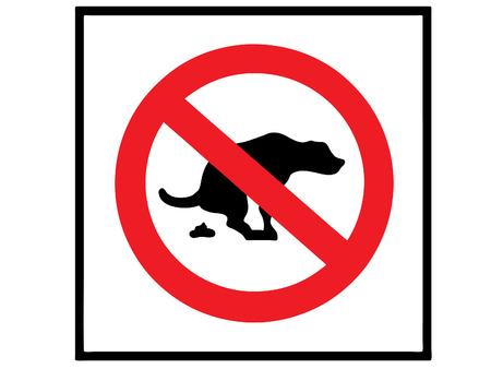 proibido: no dog shit