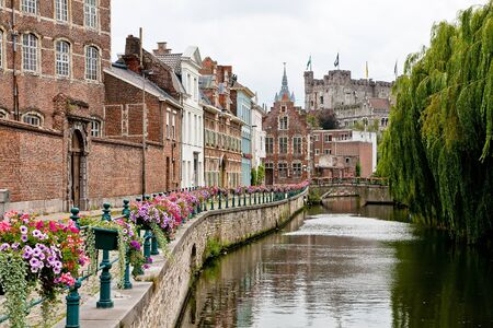 Historic centre of Ghent, view of Prinsenhof and Gravensteen Stock Photo - 8503941
