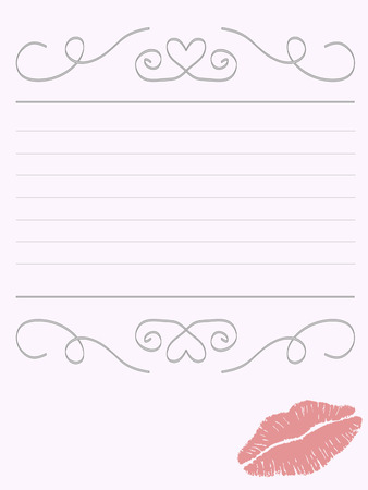 Writing paper Stock Vector - 8549609