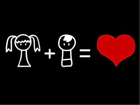 cupid man: Love mathematics Illustration