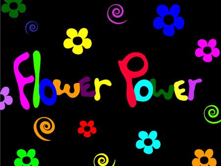 sixties: Flower power background