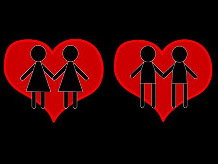 lesbian: Amour gay