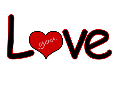 love affair: Love you Illustration