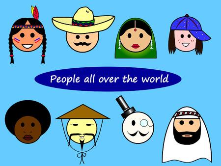 racismo: Diferentes nacionalidades de todo el mundo