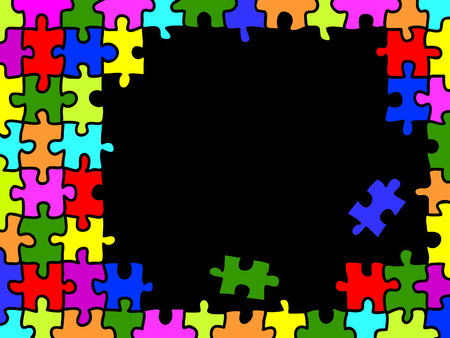 accomplish: Colorfull puzzle background with copy space