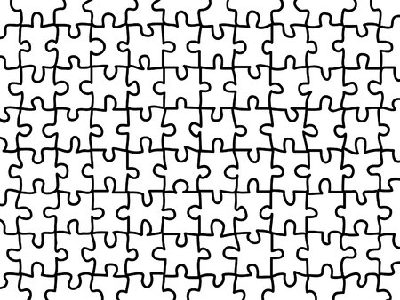 complete blank jigsaw puzzle background