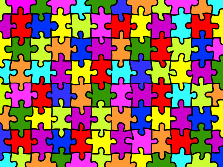 Colorful jigsaw puzzle background texture Vector