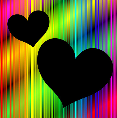 Colorful neon background with heart shaped copy space Stock Vector - 9136703