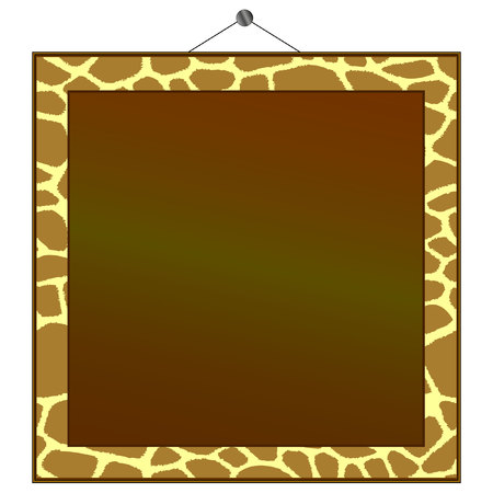 animal border: giraffe print frame to put your own photo or text in.