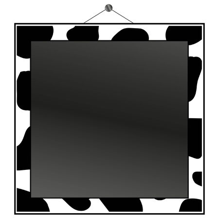 canvas print: Cow print frame to put your own photo or text in.  Illustration
