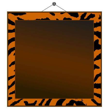 Tiger print frame to put your own photo or text in.  Vector