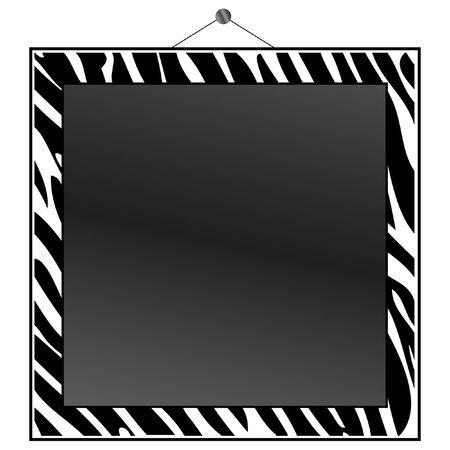 canvas print: Cebra imprime marco poner su foto o texto en.  Vectores