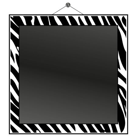 Zebra print frame to put your own photo or text in. Stock Vector - 9136699