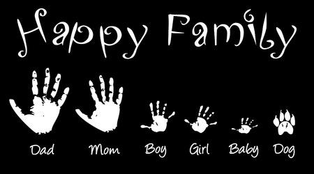 handprints: Handprints of whole family Illustration