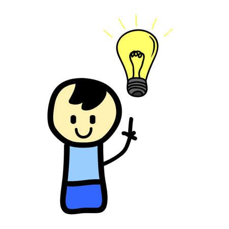 Boy with light bulb Stock Vector - 9388376