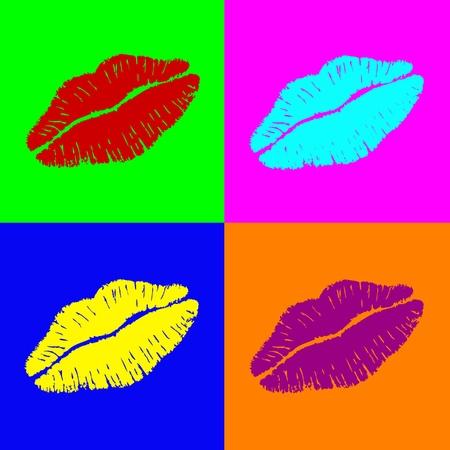 Labios de Warhol Ilustración de vector