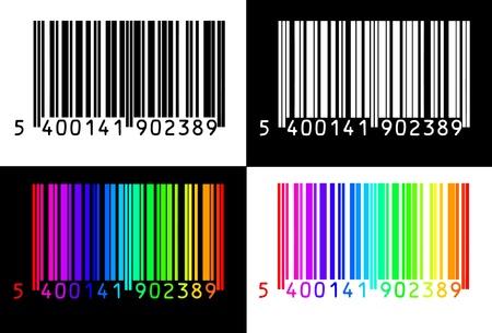 collection de codes à 4 barres Illustration