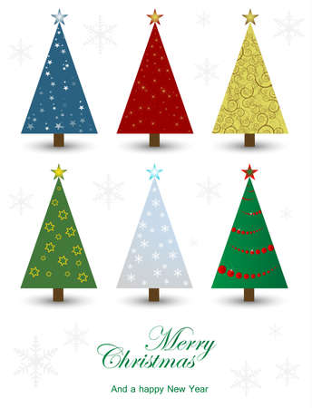 Set of christmas trees Stock Vector - 9604808