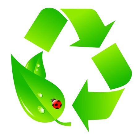 logo reciclaje: Logotipo de reciclaje verde