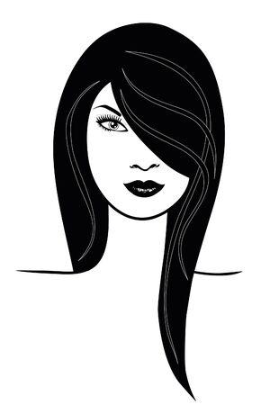vogue: Face of beautiful woman