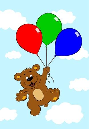 Bear with balloons Stock Vector - 10271031