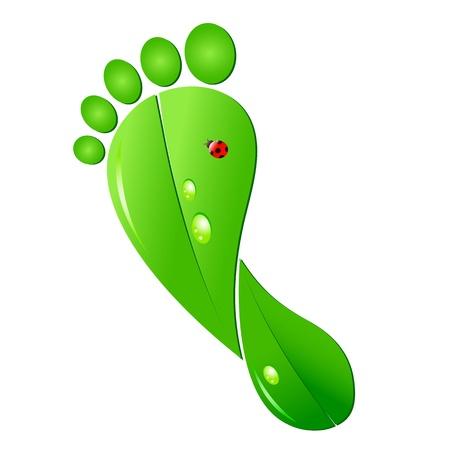 huellas de pies: Huella ecológica Vectores