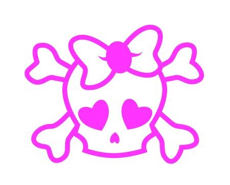 emo: Emo schedel Stock Illustratie