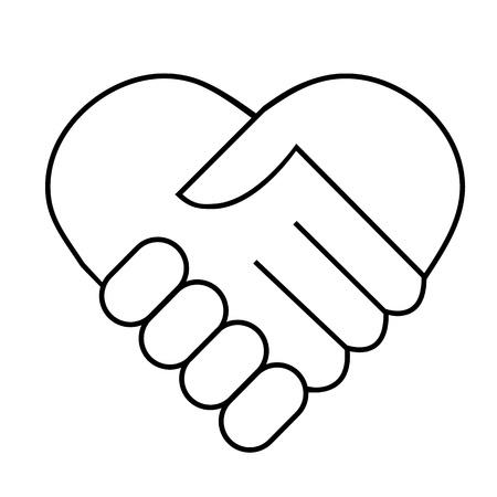 solidaridad: Apretón de manos Vectores