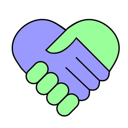 racism: Hand shake