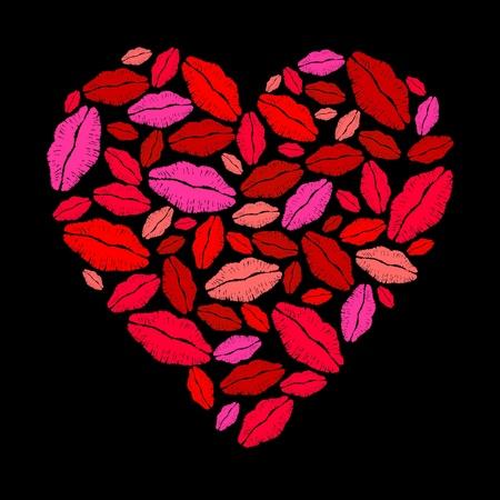 Lippenstift hart Stock Illustratie