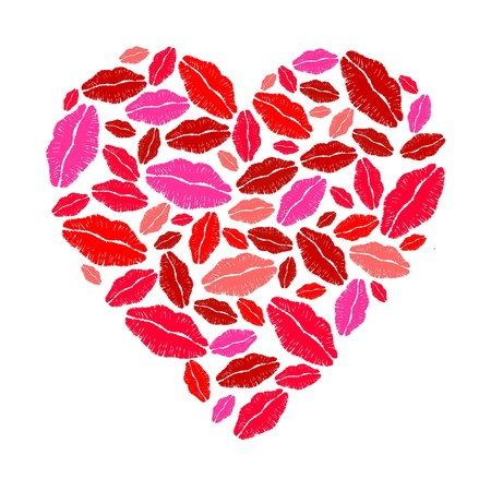 Lipstick heart Stock Vector - 10271034