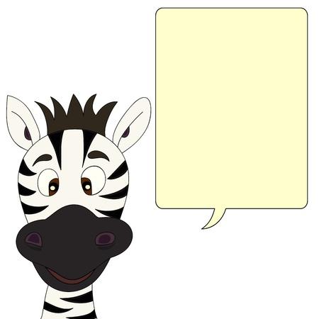 zebra heads: Zebra with speech bubble