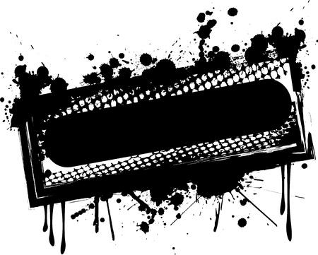 ink splat: Grunge banner