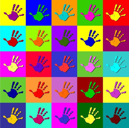 Warhol hands Vector