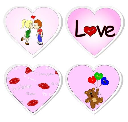 Love stickers - set 2 Vector