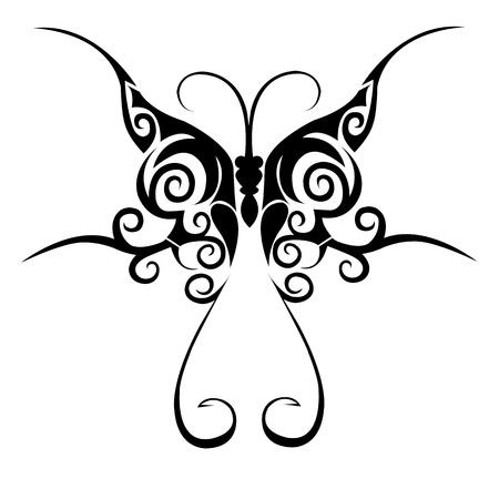 tatouage papillon: Tribal de tatouage de papillon