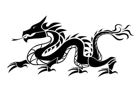 dragon tattoo design: Dragon