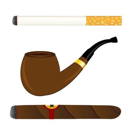 Papieros, fajka i cygara