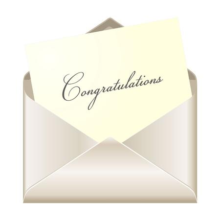 felicitaciones: Tarjeta de felicitaci�n Vectores