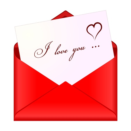 Love message Stock Vector - 12897689